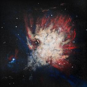 Universum II 40x40 - Acryl auf LW